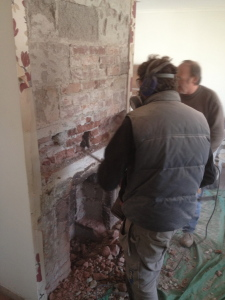 Renovating a fireplace