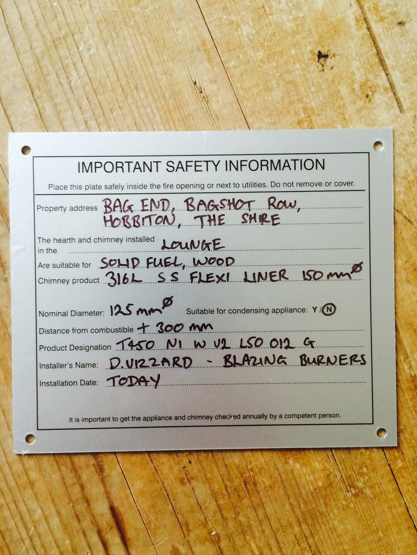 Hetas Amp Safety Blazing Burners Wood Burner Installations