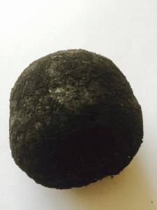 A lump of Anthracite - note the lack of dust compared to household coal
