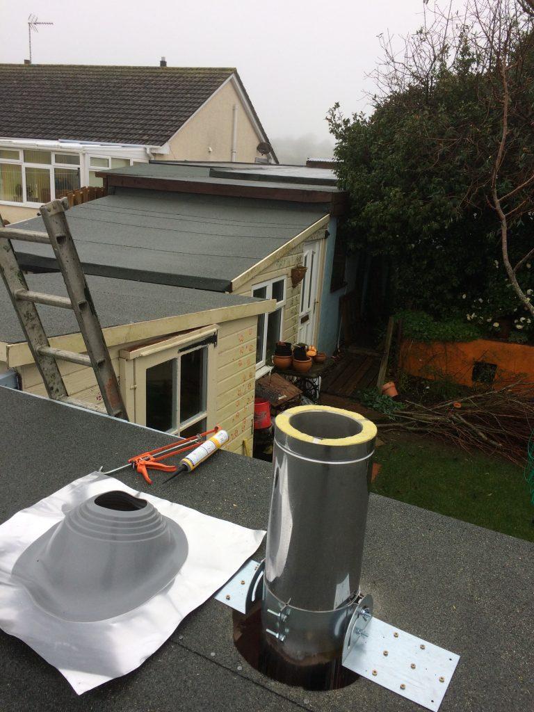 Woodburner Installation Aluminium Flashing Kit Flat